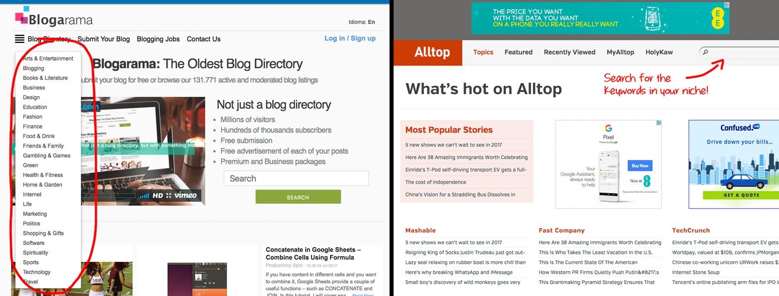 Story and Blog Aggregators