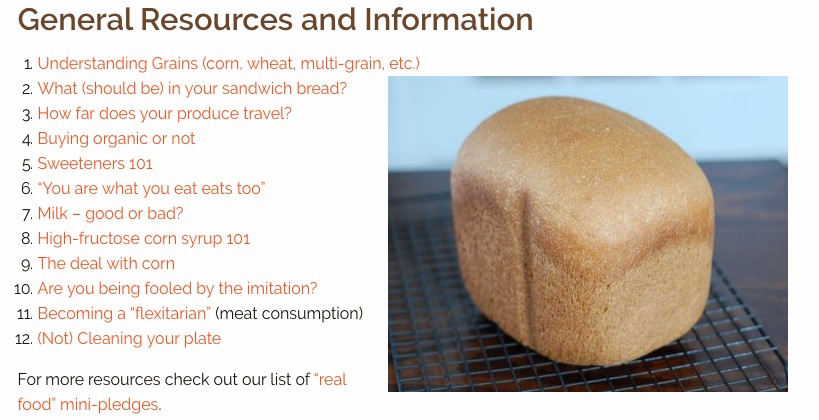 Food Resource Page