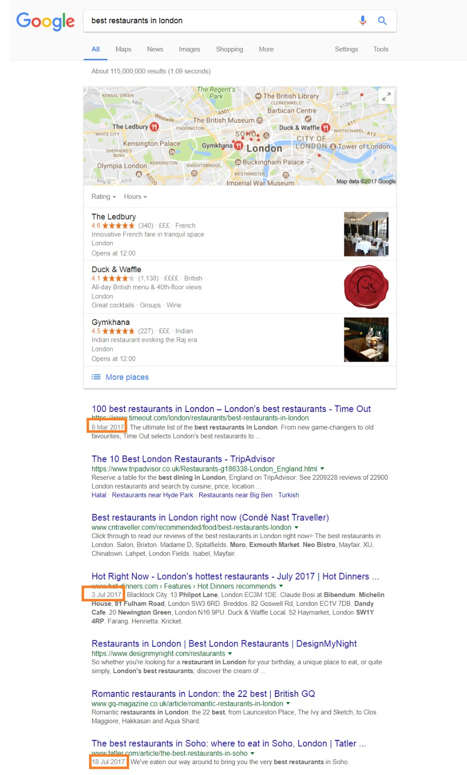 Refreshing Old Content - Google SERPS Publish Date